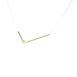 Sticks and Stones - Brass and silver necklace l A Bird Named Frank