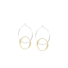 Hello Halo - Brass and silver hoop earrings l A Bird Named Frank