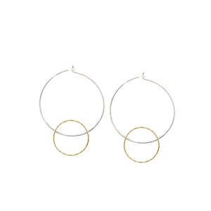 Halo - Brass and silver hoop earrings l A Bird Named Frank
