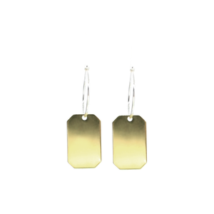 Engaii - Brass and silver lucky charm earrings l A Bird Named Frank