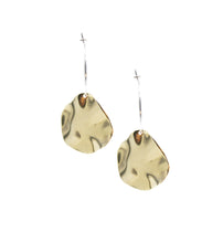 Autumn Leaves - Brass and silver hoop earrings l A Bird Named Frank