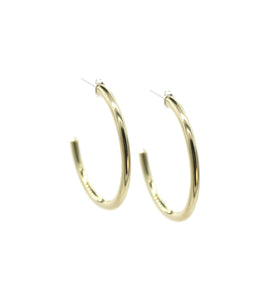 Corona - Brass hoop stud earrings l A Bird Named Frank