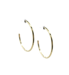 Golden Curve - Brass hoop stud earrings l A Bird Named Frank