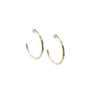 Small Golden Curve - Brass hoop stud earrings l A Bird Named Frank