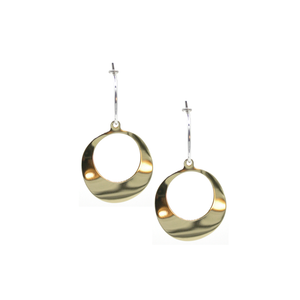 Melting - Brass and silver hoop earrings l A Bird Named Frank