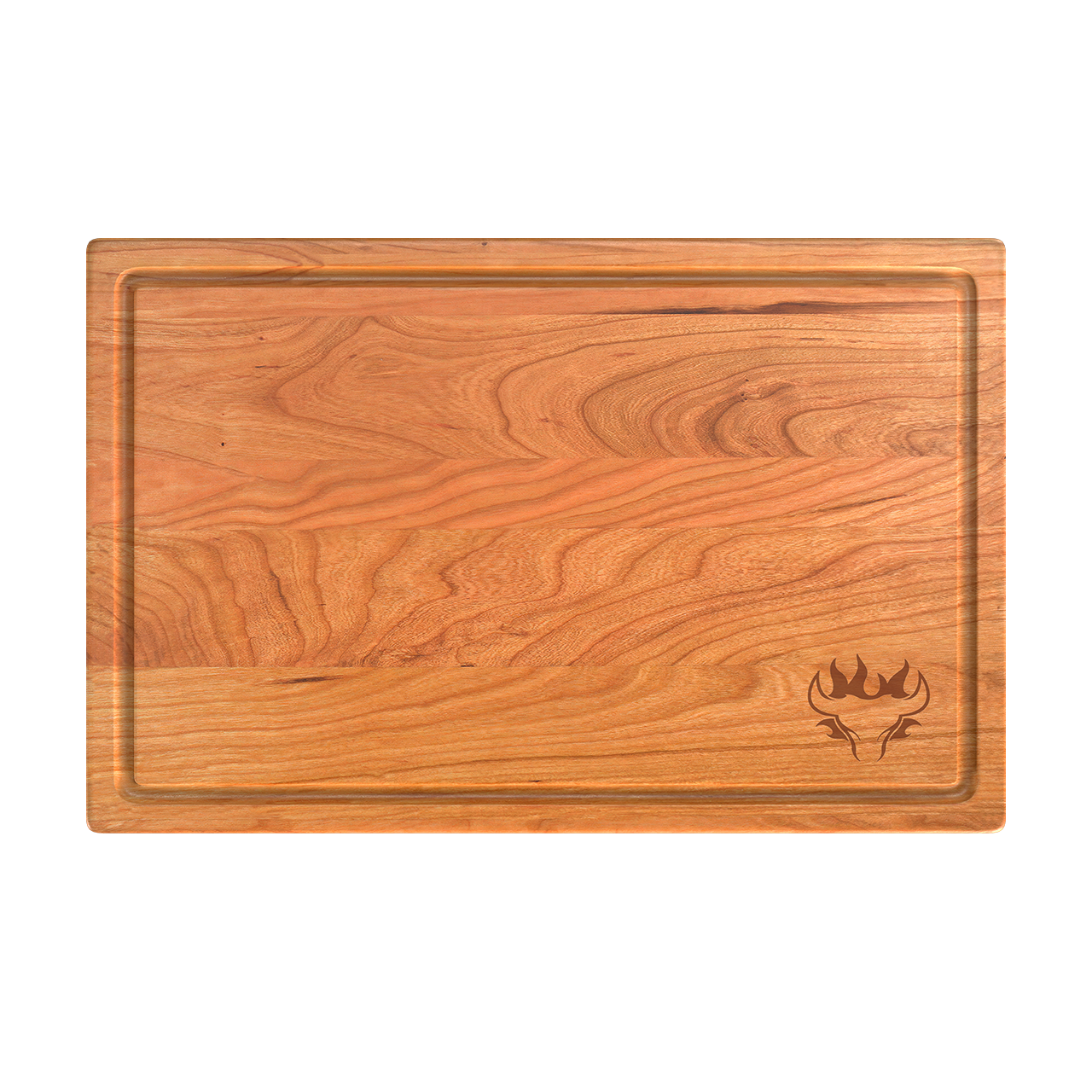 Blazing Bull Cutting Board - Top View