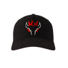 Blazing Bull Cap - Black - Front View