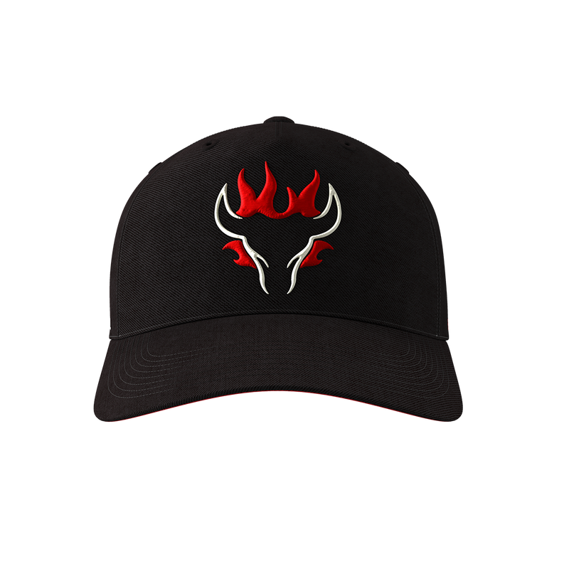 Blazing Bull Cap - Black - Front Right View