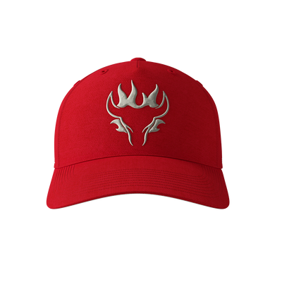 Blazing Bull Cap - Red - Front View