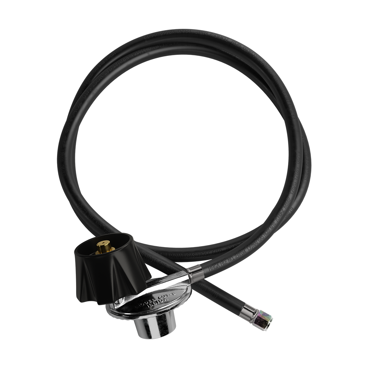 Blazing Bull Regulator & Gas Hose - Top View