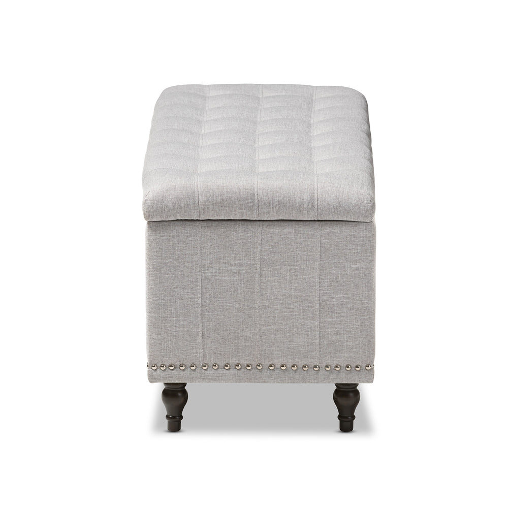 Fine Baxton Studio Grayish Beige Upholstered Button Tufting Storage Ottoman Bench Ocoug Best Dining Table And Chair Ideas Images Ocougorg