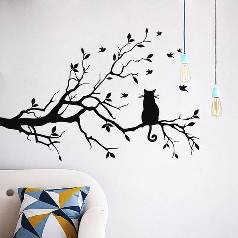 Wall sticker removeable home decorations quote wall decals diy wall stickers Tree living room decor