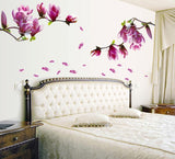 Wall sticker poster Mural Magnolia Flowers Removable Art Vinyl decals home decor for kids room