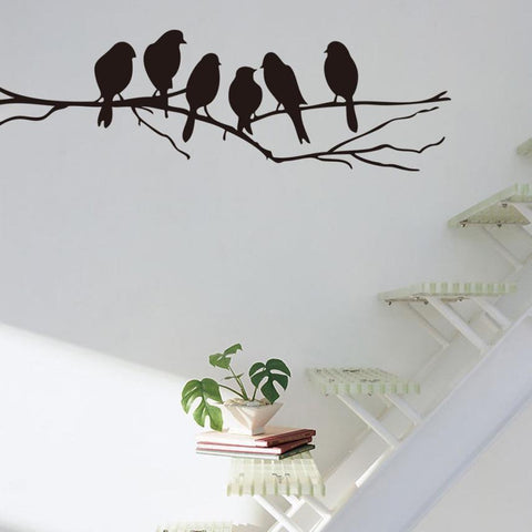 Super Deal Wall stickers Decal Removable Black Bird Tree Branch Art Home Mural Decor