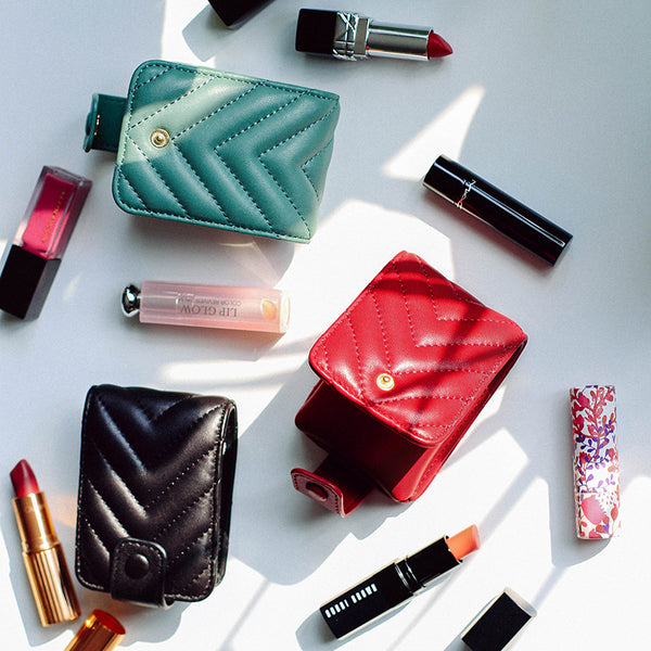 Leather Lipstick and Accessory Case