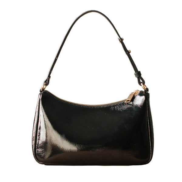 Iman Patent Leather Shoulder Bag