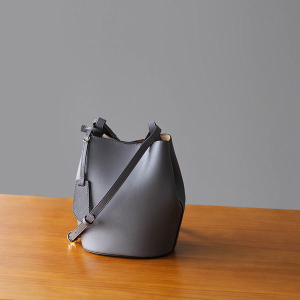 Very Berry Leather Bucket Shoulder Bag