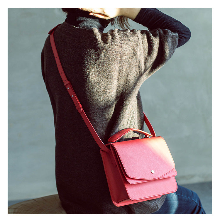 Simply Stated Leather Handbag