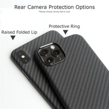 Load image into Gallery viewer, iPhone 11, 11 Pro & 11 Pro Max Phone Case | KEVLAR Edition V2-CarbonThat-iPhone 11 Pro Max-Raised Folded Lip-CarbonThat