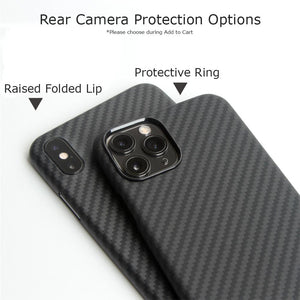 iPhone 11, 11 Pro & 11 Pro Max Phone Case | KEVLAR Edition V2-CarbonThat-iPhone 11 Pro Max-Raised Folded Lip-CarbonThat