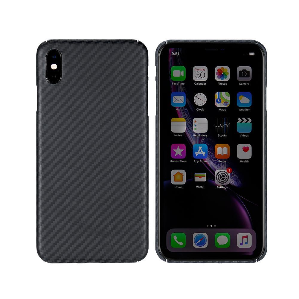 iPhone XS Max Phone Case | KEVLAR Edition V2 - Matte Finish - CarbonThat