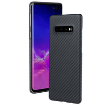 Load image into Gallery viewer, Samsung Galaxy S10+ Phone Case | KEVLAR Edition V2 - Matte Finish - CarbonThat
