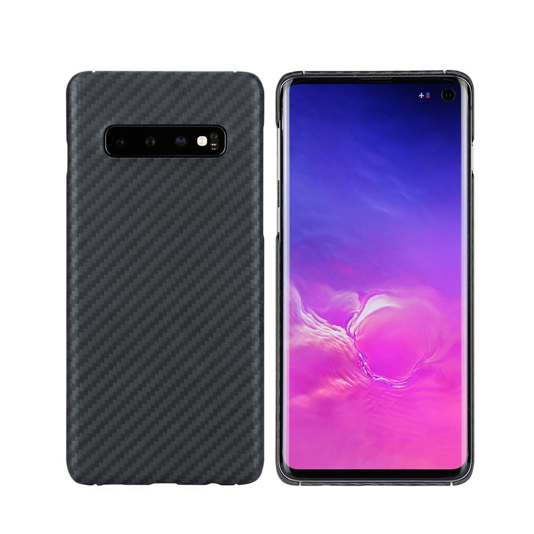 Samsung Galaxy S10 Phone Case | KEVLAR Edition V2 - Matte Finish - CarbonThat