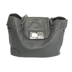 Chanel Grey Mademoiselle Lock Flap Bag