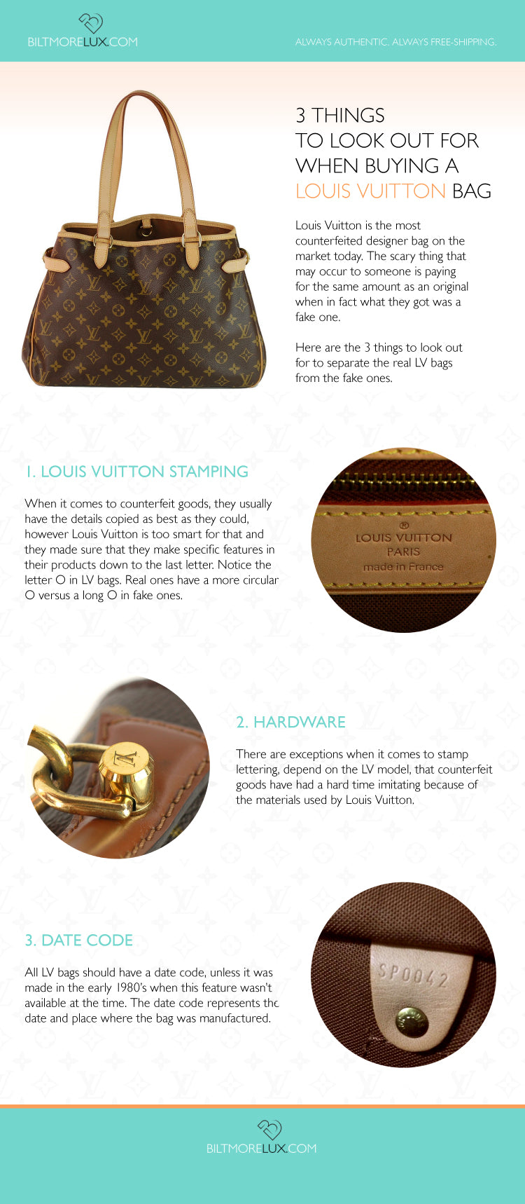 3 Things to Look Out For When Buying A Louis Vuitton Bag – Infographic