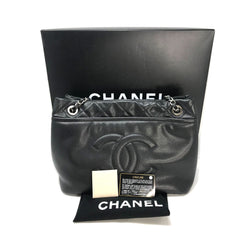 CHANEL Shopping Tote Caviar Timeless Cc Soft Black Leather Tote