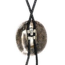 Load image into Gallery viewer, Vintage Southwestern / Navajo Sterling Silver Red Banded Agate Bolo Tie