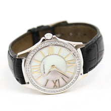 Load image into Gallery viewer, 18K White Gold Roma Watch Mother of Pearl Dial, Diamond Bezel, Faceted Crystal