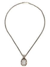Load image into Gallery viewer, David Yurman Sterling Silver Labyrinth Pendant With Diamonds
