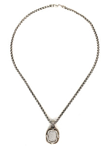 David Yurman Sterling Silver Labyrinth Pendant With Diamonds