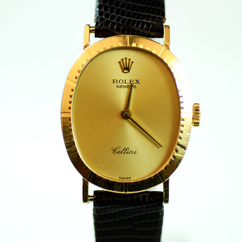Rolex Geneve Cellini Time Solid 18kt Yellow Gold Watch, Model 4047