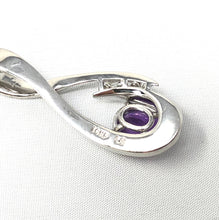 Load image into Gallery viewer, 14K White Gold 1.38ct Amethyst Oval 0.10ctw Diamond Necklace Pendant