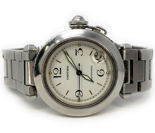 Cartier Pasha 35mm Stainless Steel Automatic Date Watch 2324