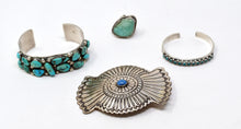 Load image into Gallery viewer, Southwestern/Native American Sterling Silver & Turquoise Jewelry Lot