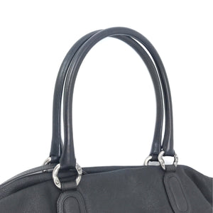 Chanel CC Washed Caviar Leather Drawstring Tote