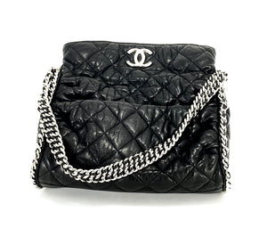 15895bc825dab6 CHANEL Black Hobo Quilted Ultimate Soft Chain Around Tote Bag ...