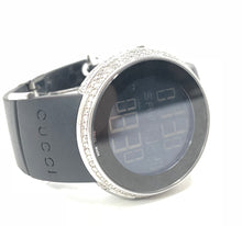 Load image into Gallery viewer, Gucci 2.00ctw Diamond Digital 316L Rubber Band Watch