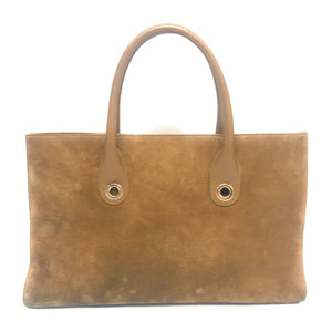 Jimmy Choo Tan Suede Large Riley Tote