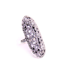 Load image into Gallery viewer, Marcasite, Sterling Silver Ring Size 9.75