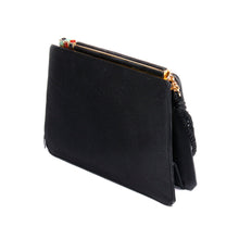 Load image into Gallery viewer, Judith Leiber Vintage Black Satin Tassel Shoulder Clutch