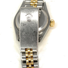 Load image into Gallery viewer, ROLEX 18K Gold & Stainless Steel Diamond & Ruby Bezel Datejust Ladies Watch