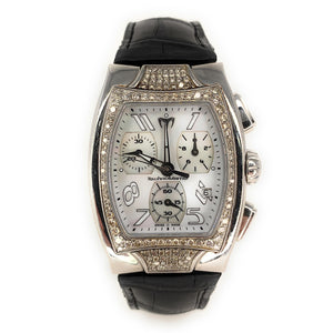Technomarine Technosquare Stainless Steel 1.02ctw Diamond Watch