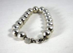 Tiffany & Co. Sterling Silver Bead Ball Bracelet