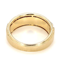 Load image into Gallery viewer, Men's 10K Yellow Gold & Diamond Wedding Band - Sz. 9¾