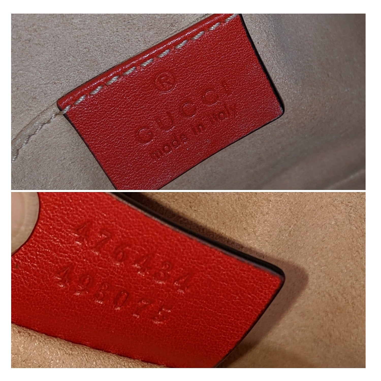 Gucci Hibiscus Red GG Marmont Matelass  Leather Belt Bag