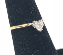 Load image into Gallery viewer, Estate 0.30ct Diamond Heart 14K Yellow / White Gold Ring Size 5.5